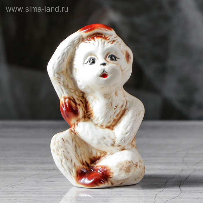 """Сувенир """"Обезьянка Пеппи"""" шамот"""