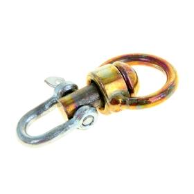 Вертлюг со скобой, средний, общая длина 6,2 см, диаметр кольца 3,1 см, толщина проволоки 0,4 см Ош