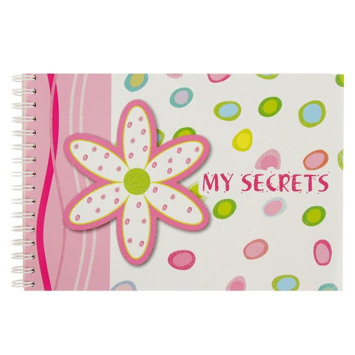 Записная книжка А7 My secrets , 120 листов, на гребне