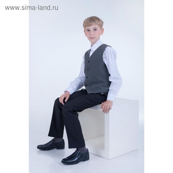 Сорочка для мальчика, рост 146-152 см (34), цвет белый 181Б