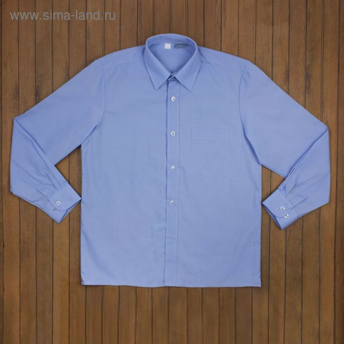 Сорочка для мальчика, рост 158-164 см (36), цвет голубой 181Б-1