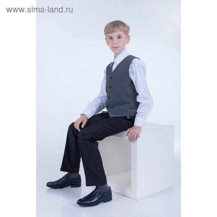 Сорочка для мальчика, рост 122-128 см (30), цвет белый 181А