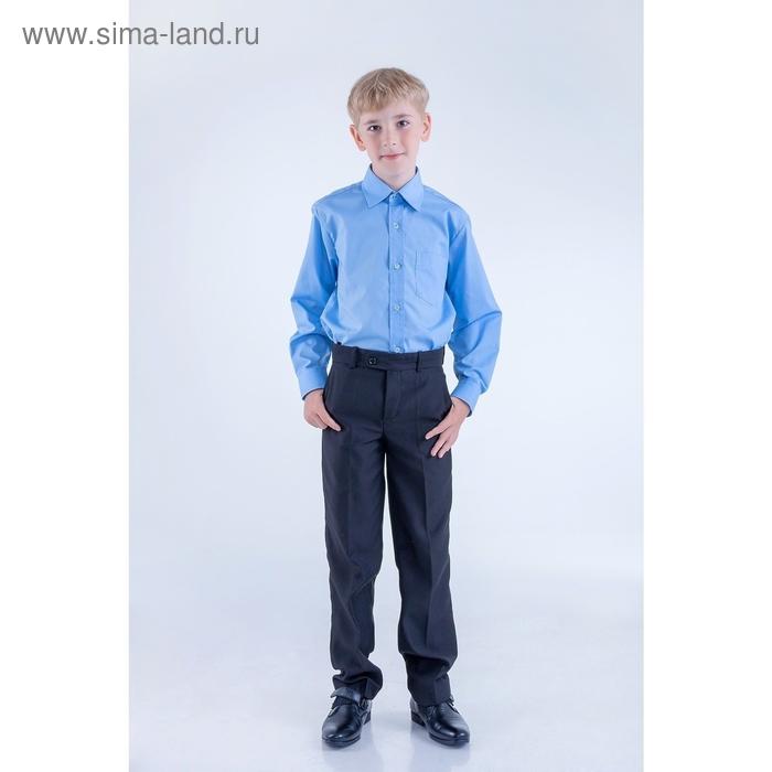 Сорочка для мальчика, рост 146-152 см (33), цвет голубой 181Б