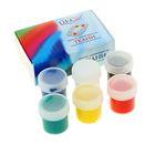 Краска для ткани акриловая, набор 6 цветов по 20 мл DecArt