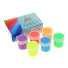 Краска акриловая, набор Fluo, 6 цветов по 20 мл, Экспоприбор, DecArt
