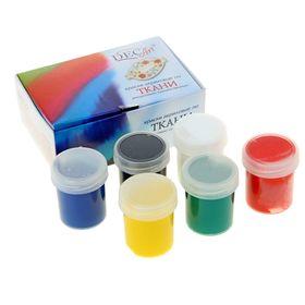 Краска для ткани акриловая набор 6 цветов по 40мл DecArt