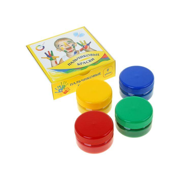 Краски пальчиковые, набор 4 цвета по 60 мл «Экспоприбор»