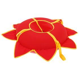 Тюбинг-ватрушка «Солнышко», d=80 см, цвет красный