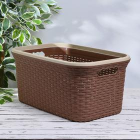 Корзина для глаженного белья «Ротанг», 38 л, 35×54×25 см, цвет какао
