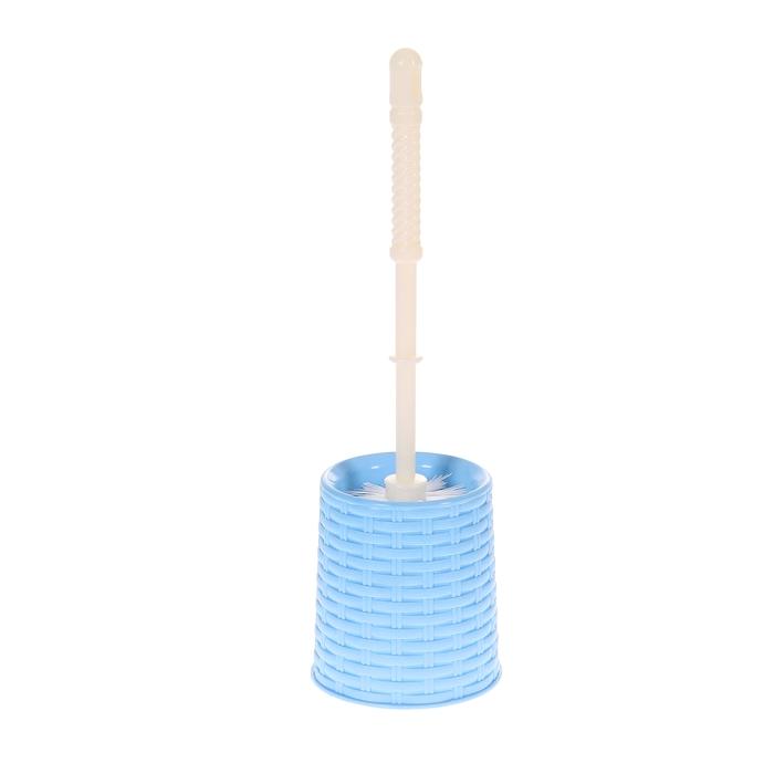 """Ерш для унитаза с подставкой """"Ротанг"""", цвет голубой"""