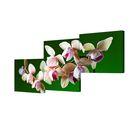 """Модульная картина на холсте с подрамником """"Свежая орхидея"""""""