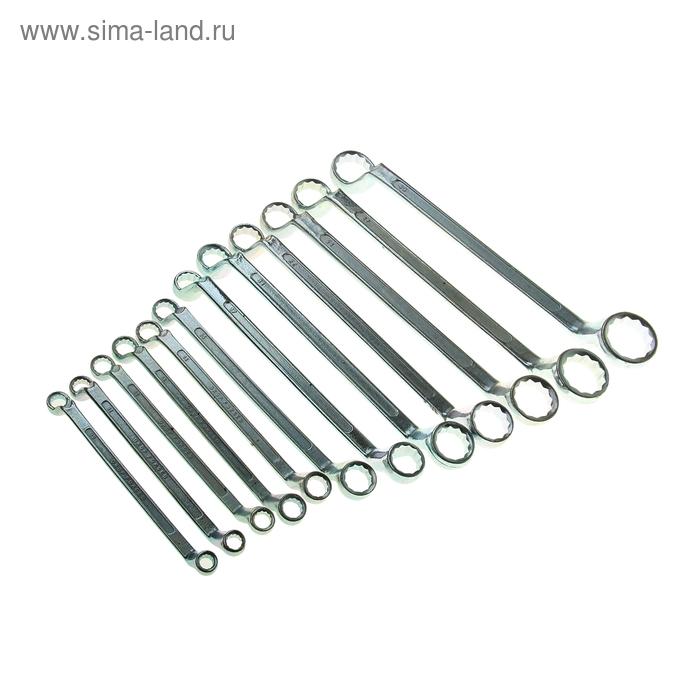 Набор ключей накидных TUNDRA basic, холдер, хромированный, 12 шт, 8-32 мм