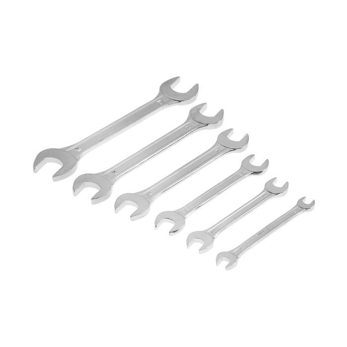 Набор ключей рожковых TUNDRA basic, хромированный, 6 шт, 6-17 мм