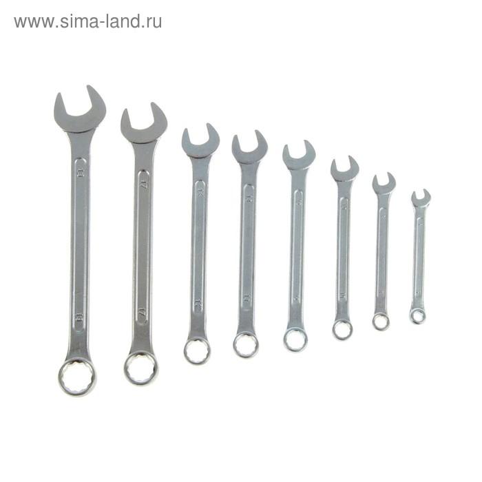 Набор ключей комбинированных TUNDRA basic, хромированный, 8 шт, 6-19 мм