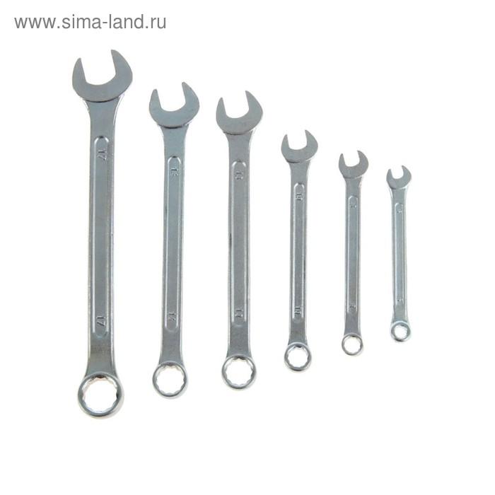 Набор ключей комбинированных TUNDRA basic, хромированный, 6 шт, 6-17 мм