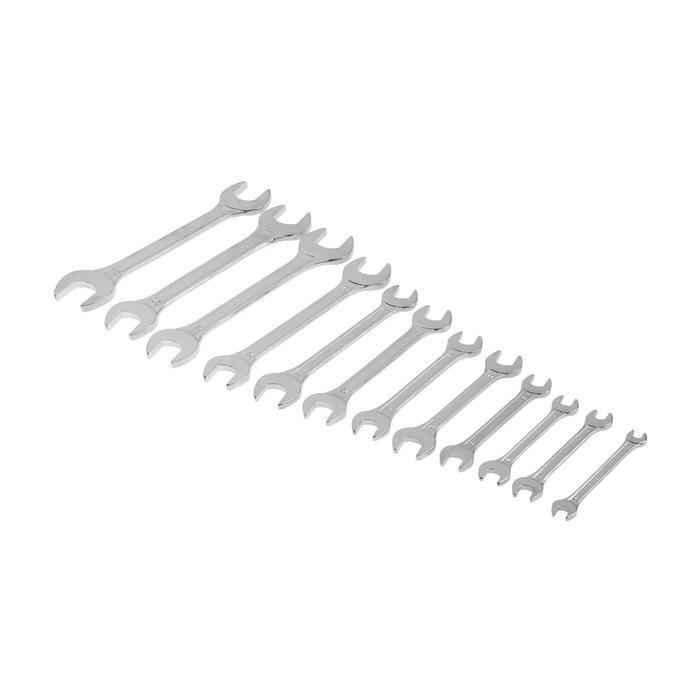 Набор ключей рожковых TUNDRA basic, холдер, хромированный, 12 шт, 6-24 мм