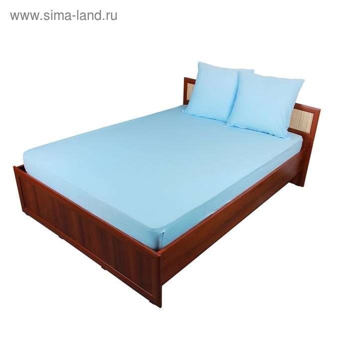 Комплект ROKO  пр./рез  160*200*20, 70*70 2 шт, голубой, трикотаж