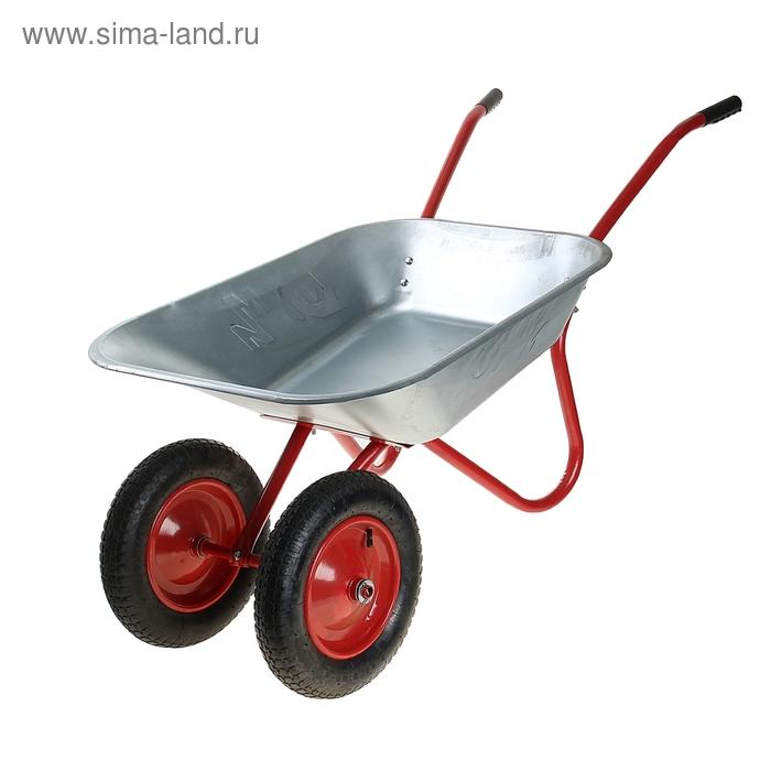 Тачка садовая двухколесная (пневмоколесо, груз/п 160 кг, объем 85 л)