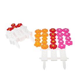 Ограждение декоративное, 36 × 278 см, 9 секций, пластик, белое, «Цветочный рай»
