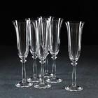 Набор бокалов для шампанского Bohemia Crystal «Анжела», 190 мл, 6 шт - фото 308063390