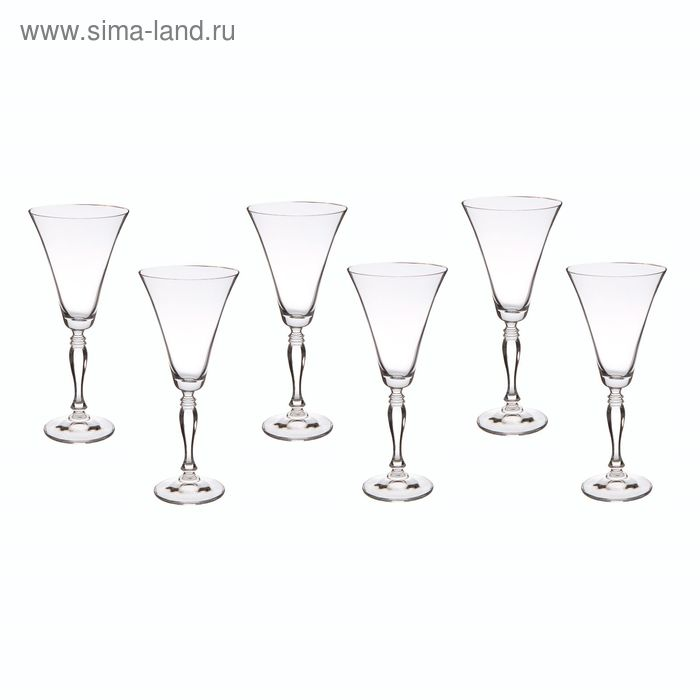 """Набор бокалов для вина 230 мл 6 шт """"Виктория"""""""