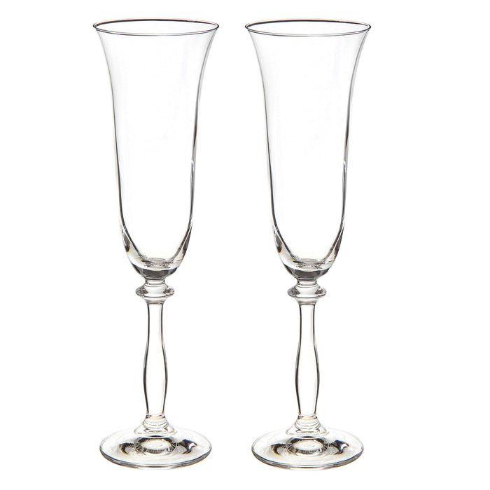 """Набор фужеров для шампанского 190 мл """"Свадебный"""", 2 шт"""