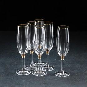 Набор бокалов для шампанского Bohemia Crystal «Оливия», 190 мл, 6 шт