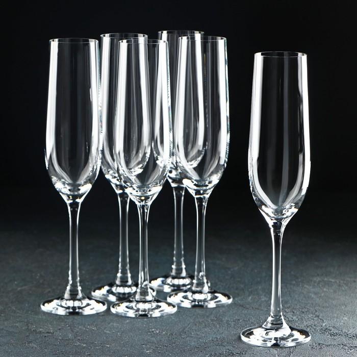 """Набор бокалов для шампанского 190 мл """"Виола"""", 6 шт"""