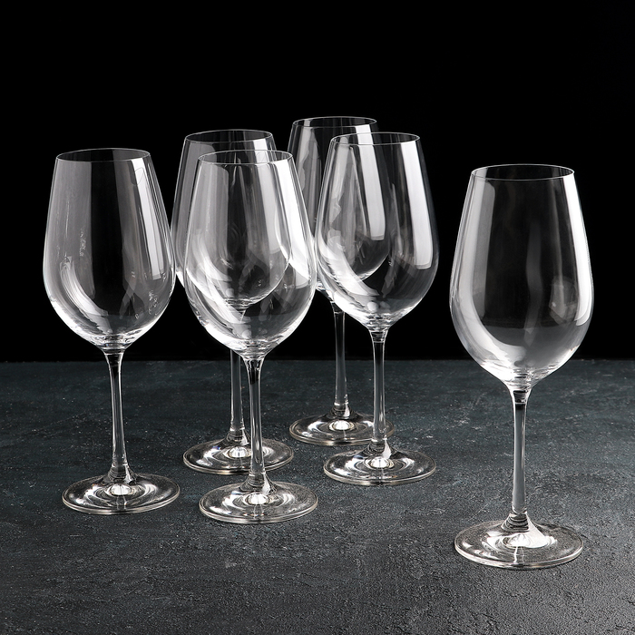 """Набор бокалов для вина 450 мл """"Виола"""", 6 шт"""