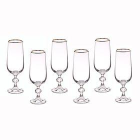 Набор бокалов для шампанского «Клаудия», 180 мл, 6 шт.