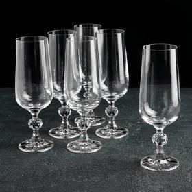 """Набор бокалов для шампанского 180 мл """"Клаудия"""", 6 шт"""