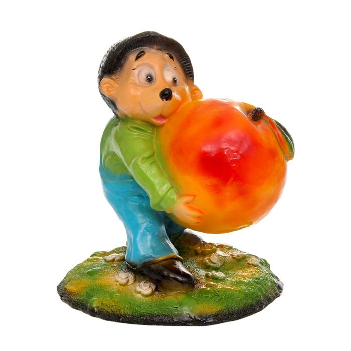 """Садовая фигура """"Ёж с яблоком"""" большая"""