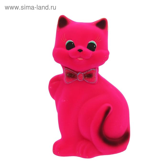 """Копилка """"Кот Бонни"""" большая, флок, розовая"""