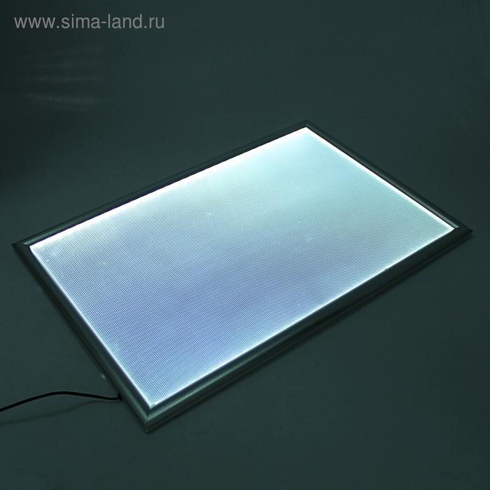 Световая панель (Лайт бокс), рамка узкая, 50*70
