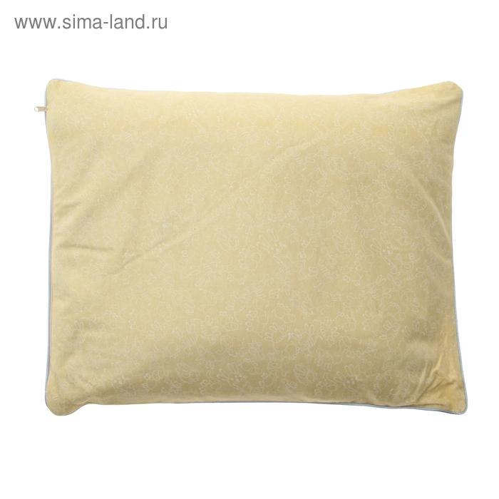 Подушка МЕДЕЛЛА, размер 40х50 см, лузга проса, наперник сатин, чехол фланель
