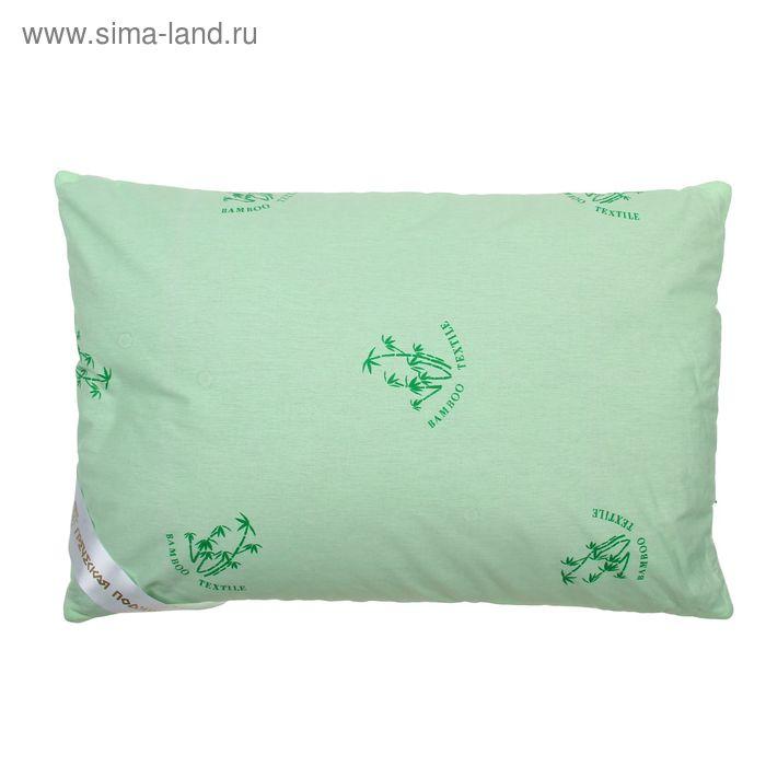 """Подушка """"Греческая"""" с волокном бамбука, размер 40х60 см, лузга гречихи, тик"""