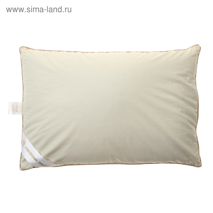 """Подушка """"Греческая"""" с цветами лаванды, размер 40х60 см, лузга гречихи, тик"""