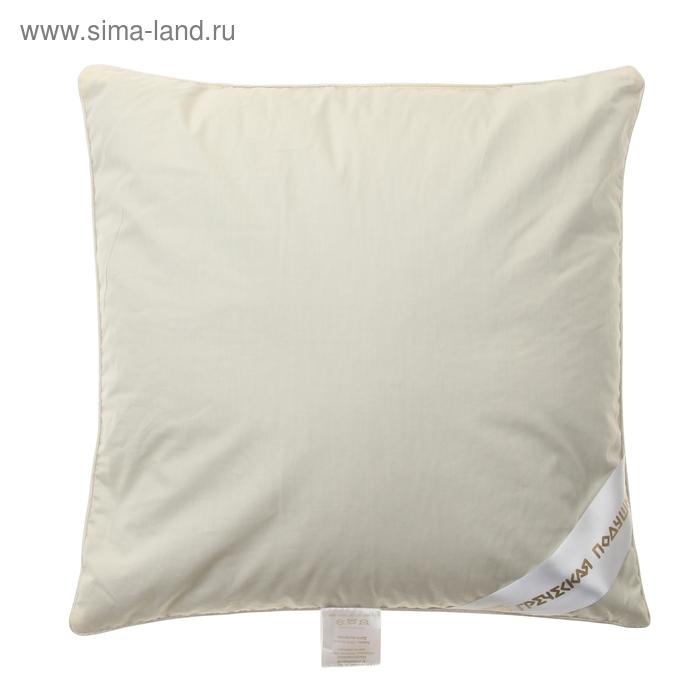"""Подушка """"Греческая"""" с цветами лаванды, размер 40х40 см, лузга гречихи, тик"""