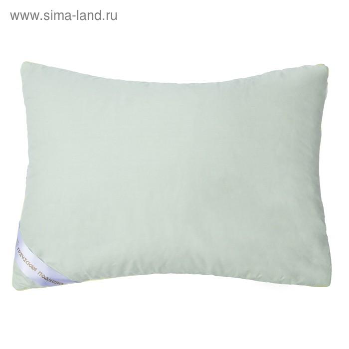 """Подушка """"Греческая"""" с волокном бамбука, размер 50х70 см, лузга гречихи, тик"""