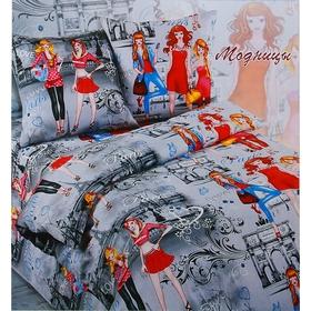Постельное бельё Сударушка 'Модницы' 1,5 сп., размер 150х215 см, 150х215 см, 70х70 см - 2 шт. Ош