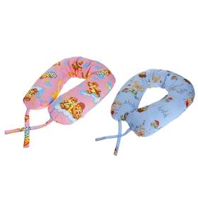 Подушка АДАМАС ОБЛАКО для беременных, размер 30х170 см, холлофайбер, чехол МИКС