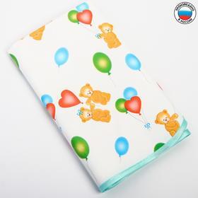 Клеёнка с ПВХ-покрытием «Мишки» 50х70 см, цвета МИКС