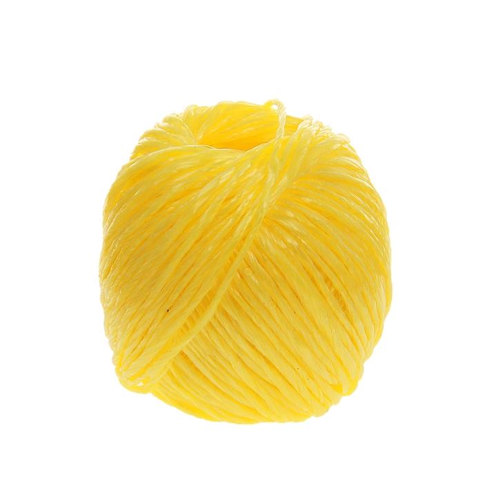 Шпагат полипропиленовый, 60 м, цвет желтый