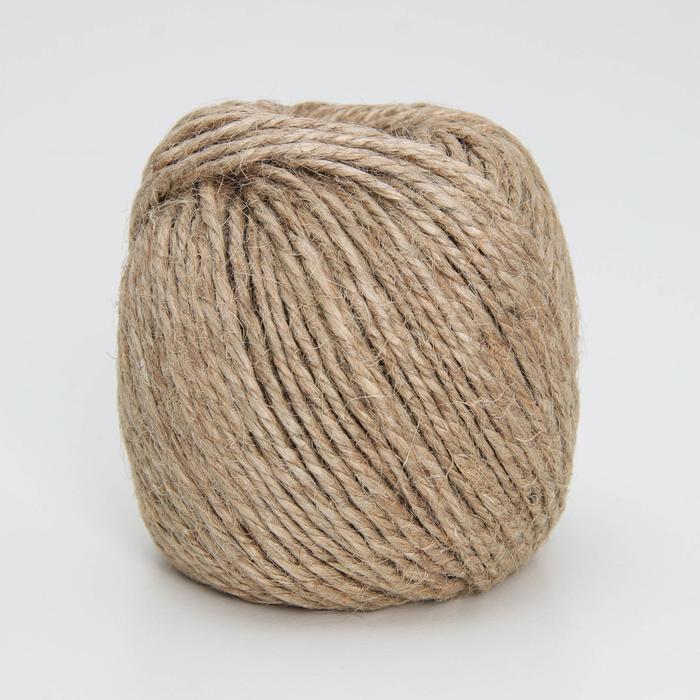 Шпагат джутовый, 50 м, 3 нити (1,68 КТекс)