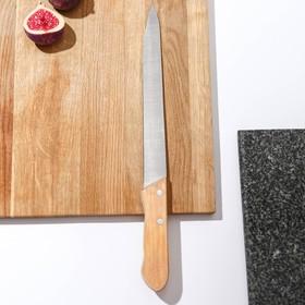 Нож для мяса большой «Гастрономический», лезвие 23,5 см, деревянная рукоять