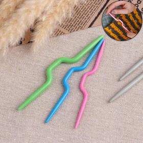 Набор вспомогательных спиц для вязания, 3шт, d=3/4/5мм, цвет МИКС Ош