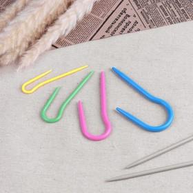 Набор вспомогательных спиц для вязания, 4шт, d=0,3/0,4/0,5/0,6см, цвет МИКС Ош