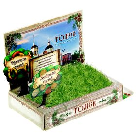 Растущая травка в открытке 'Томск' Ош