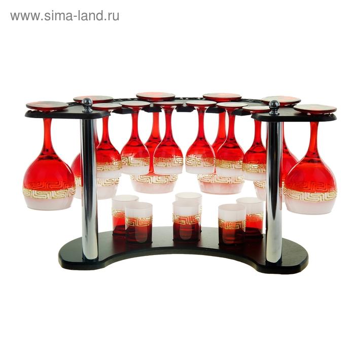 "Мини-бар ""Верс"" 18 предметов, под вино, красно-белый"