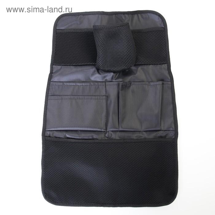 Органайзер на спинку сиденья, 7 карманов, цвет чёрный